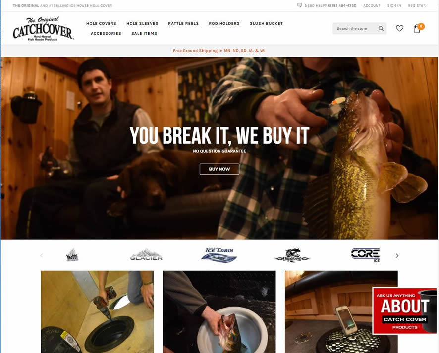 ice fishing product website