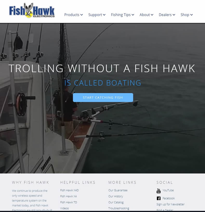 open water fishing website
