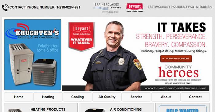 heating contractor website