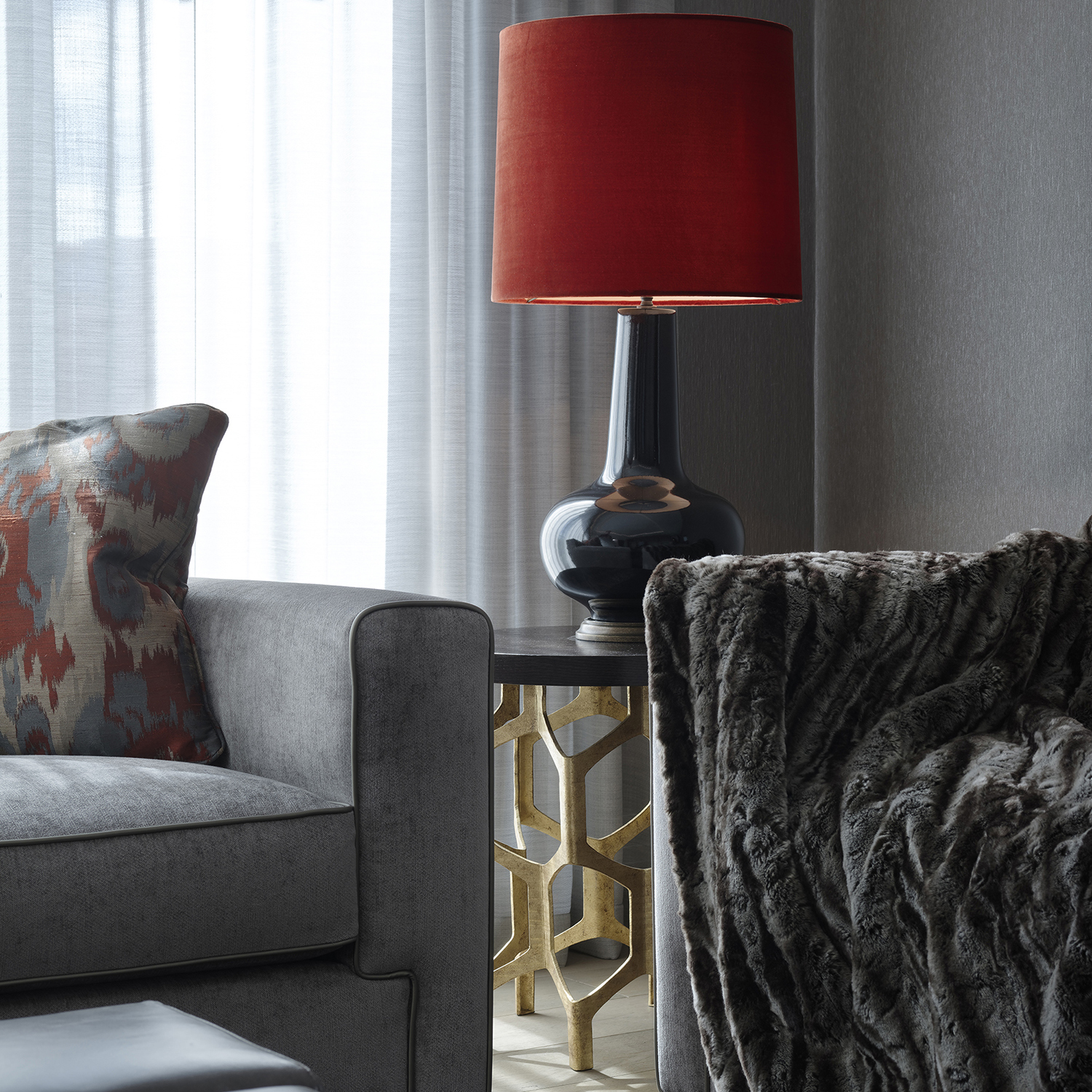 Soft furnishings for Chelsea penthouse Project