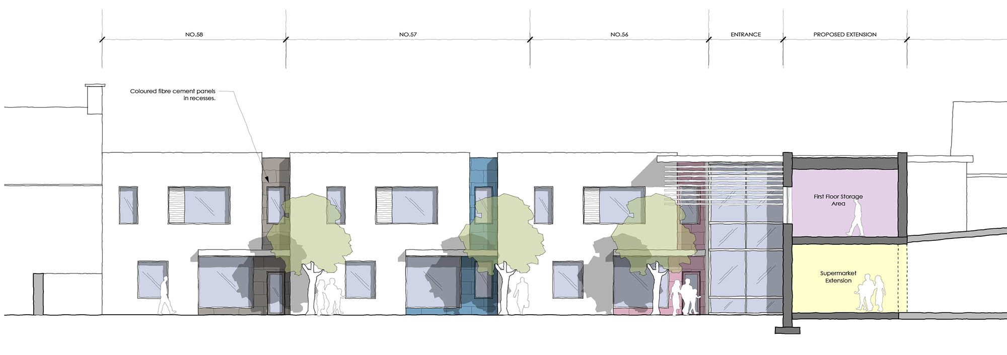 Front Elevation for Skerries Town Centre Redevelopment project