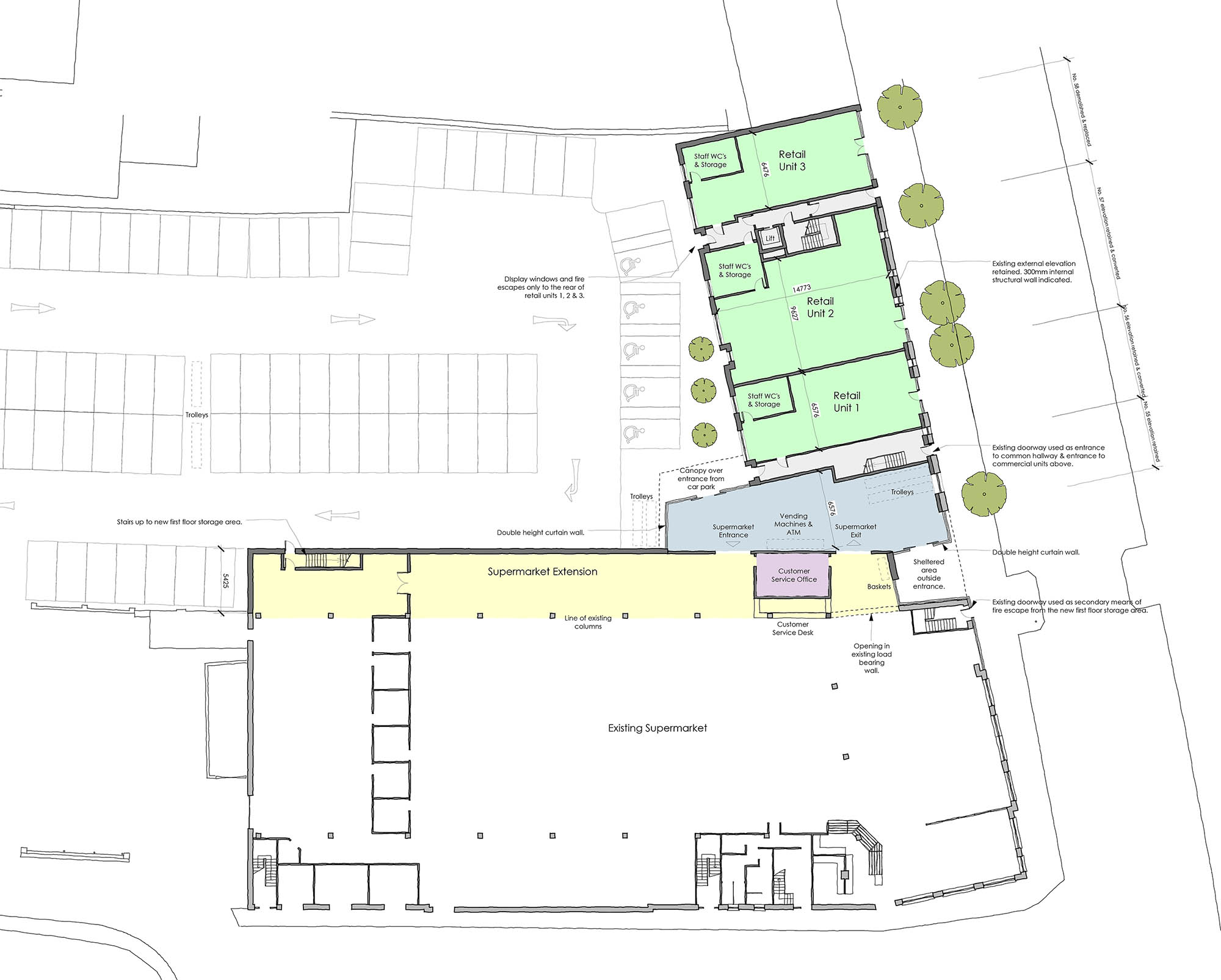 Aerial view proposed plans for Skerries town centre restoration and redevelopment project