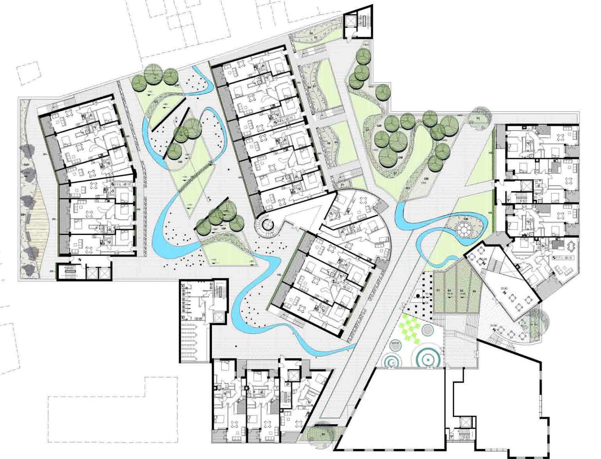 Aerial plan of Dublin City Apartments and Gardens development