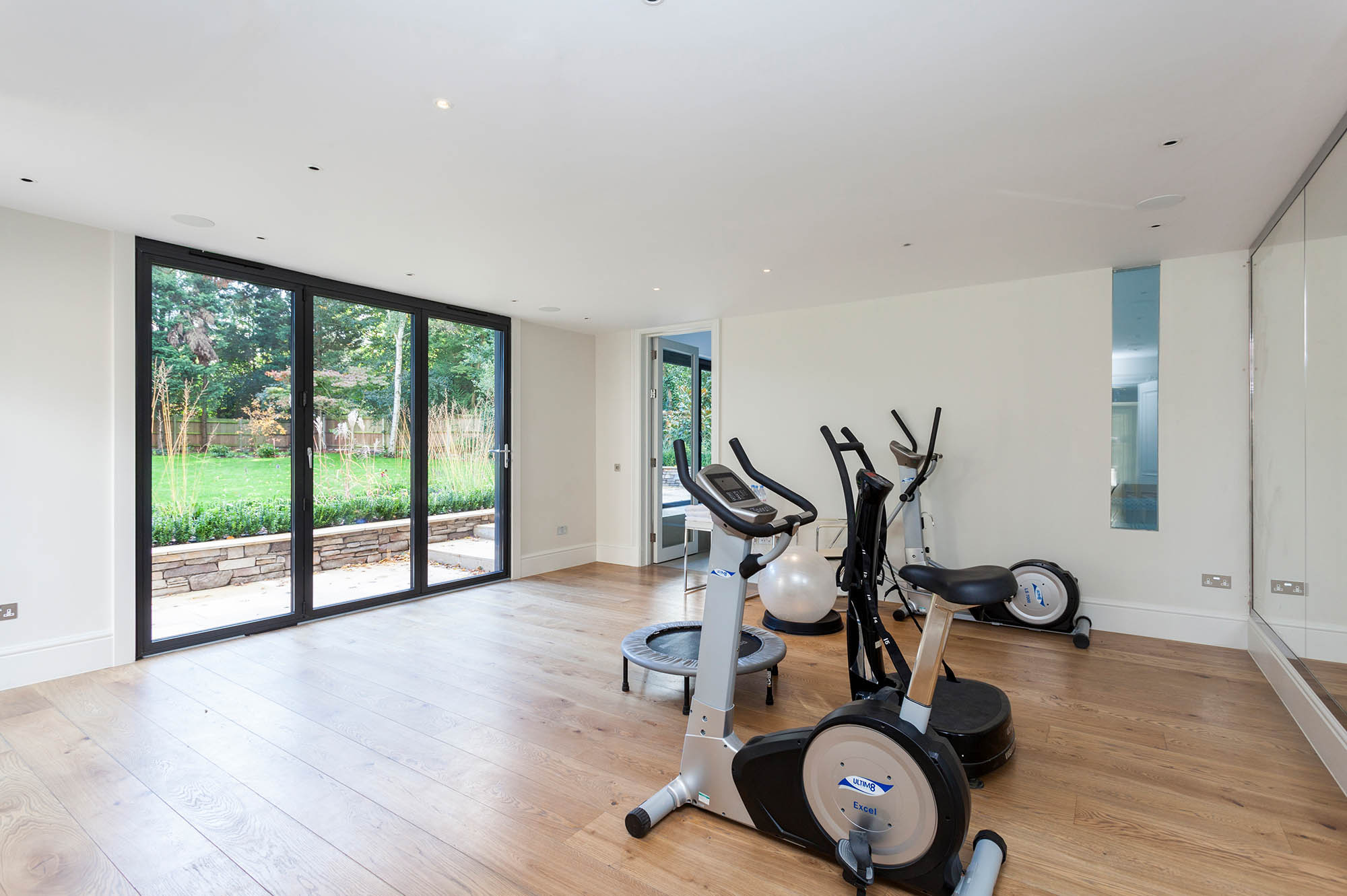 Gym area of the newly built pool house for Kylemore House in Kingston