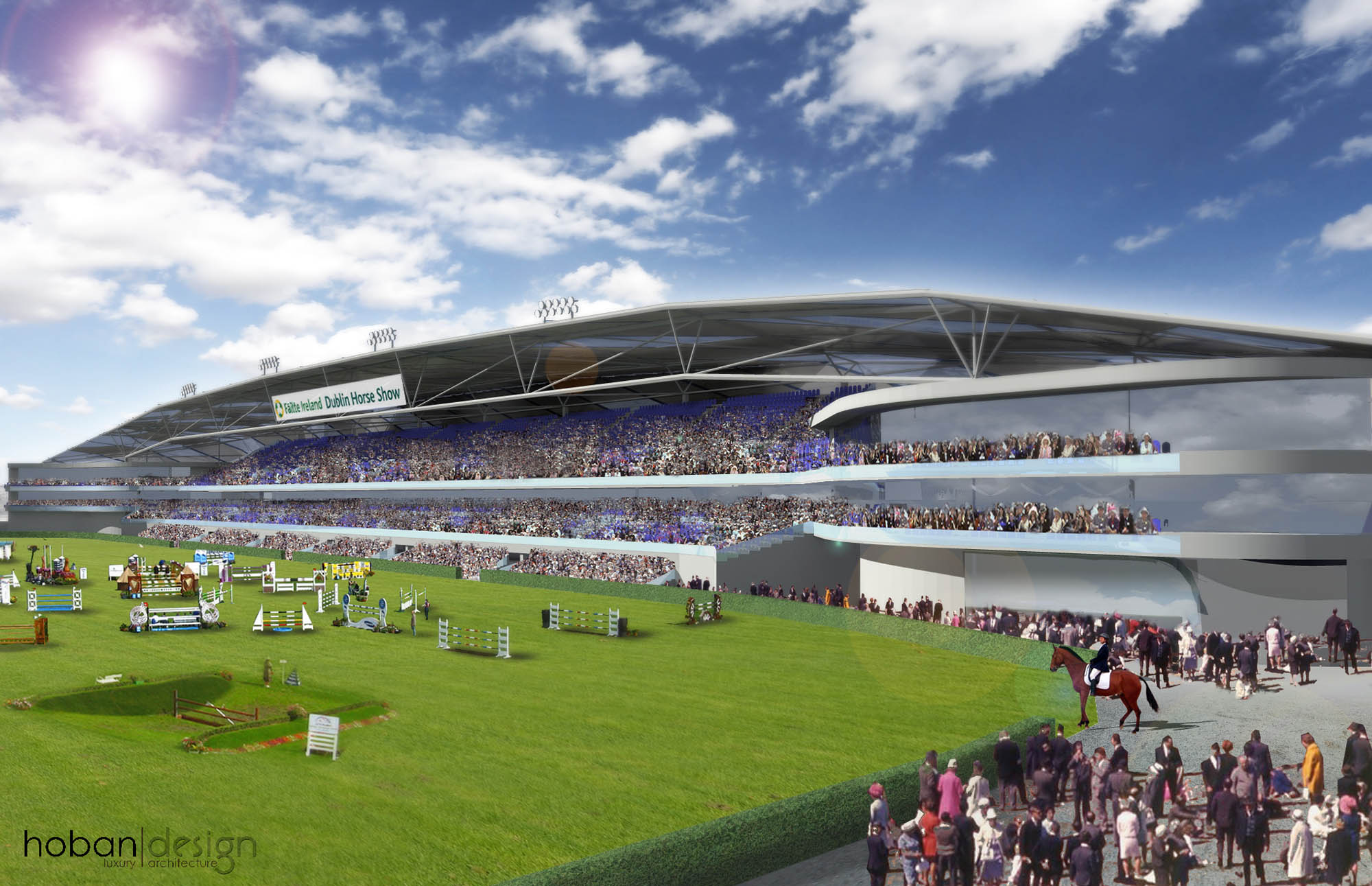 Royal Dublin Society Competition Concept Proposal for New Stand