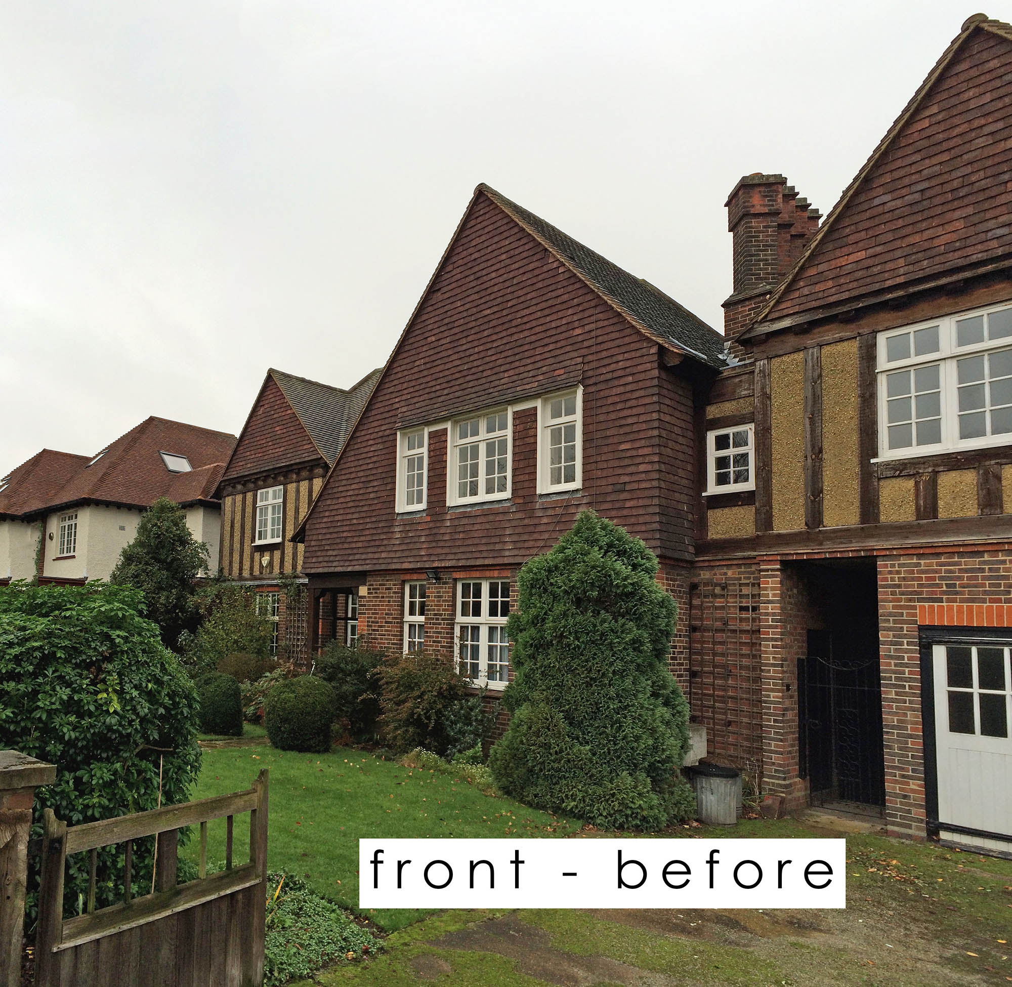 Putney Renovation project Front elevation BEFORE photo