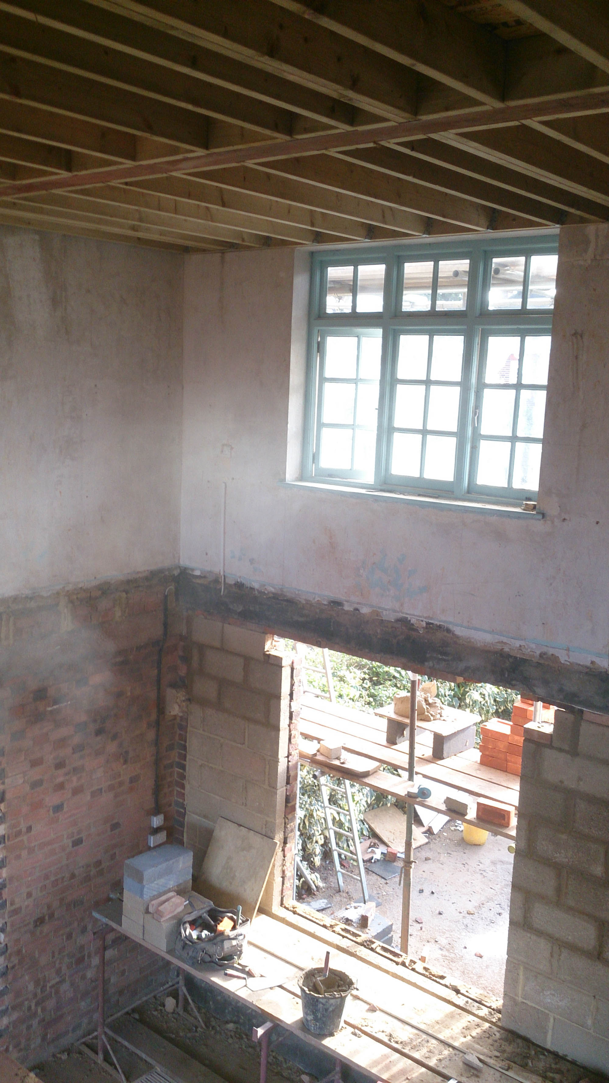 Interior work in progress photo from Putney restoration project