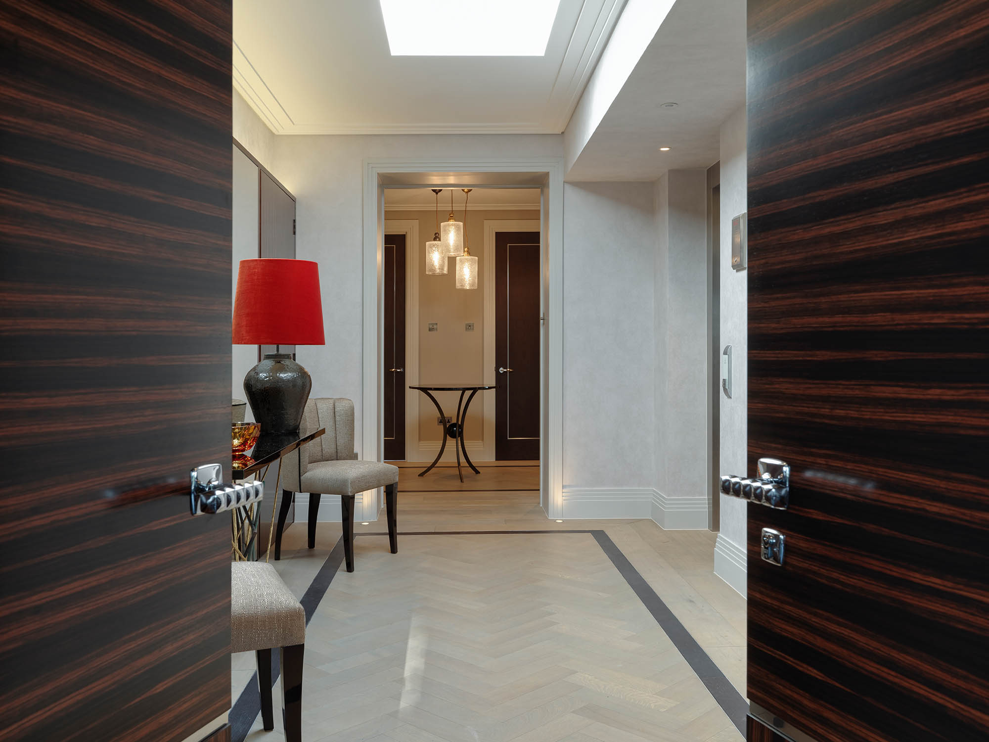 Completed entrance to Luxury Chelsea Penthouse