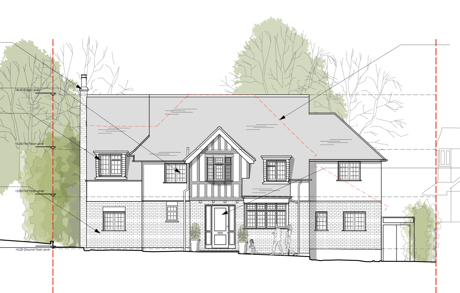 Front Elevation Architectural Plans for Surbiton Home Renovation