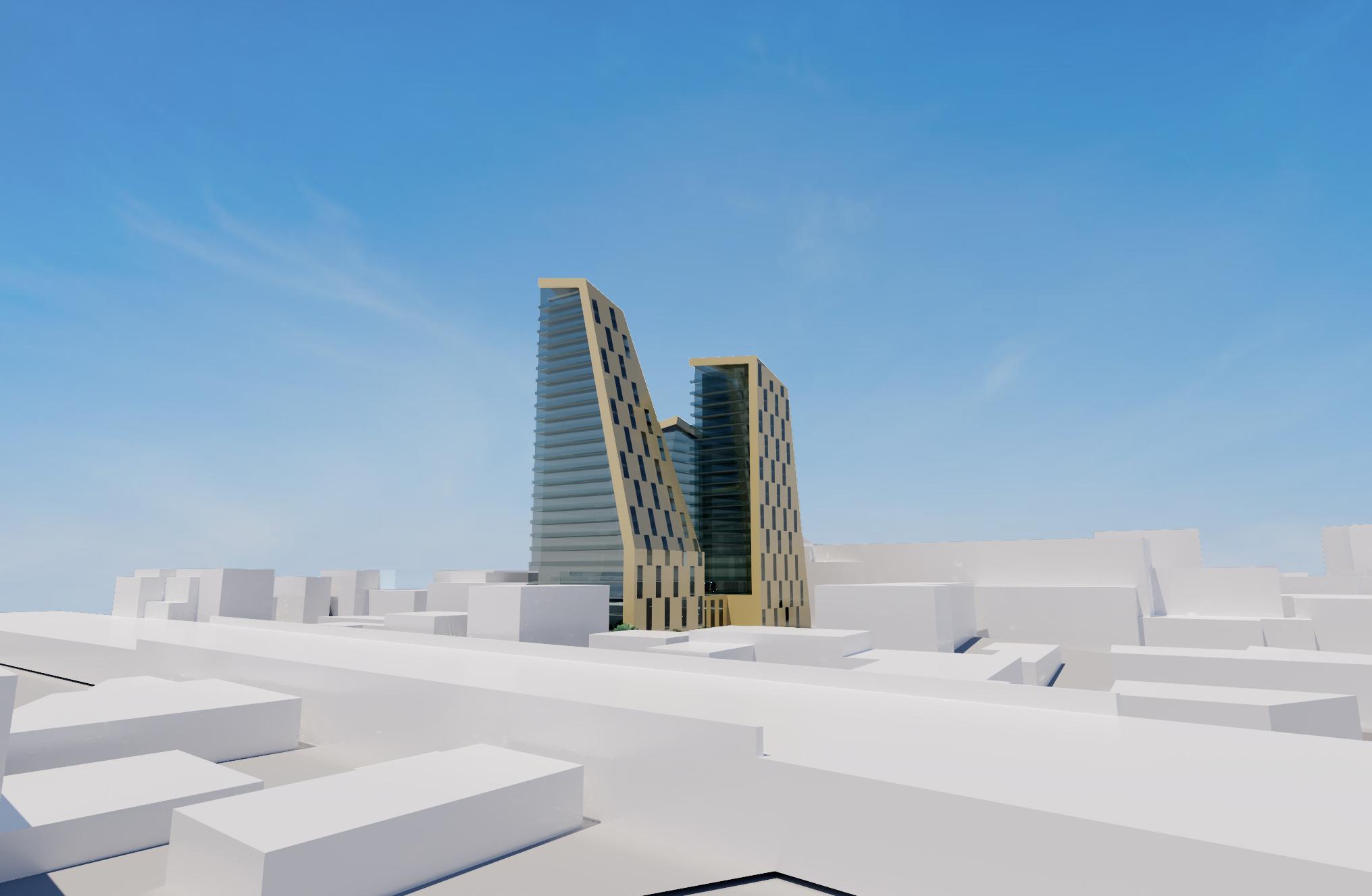 3D design proposal of residential apartment blocks for Romford Development