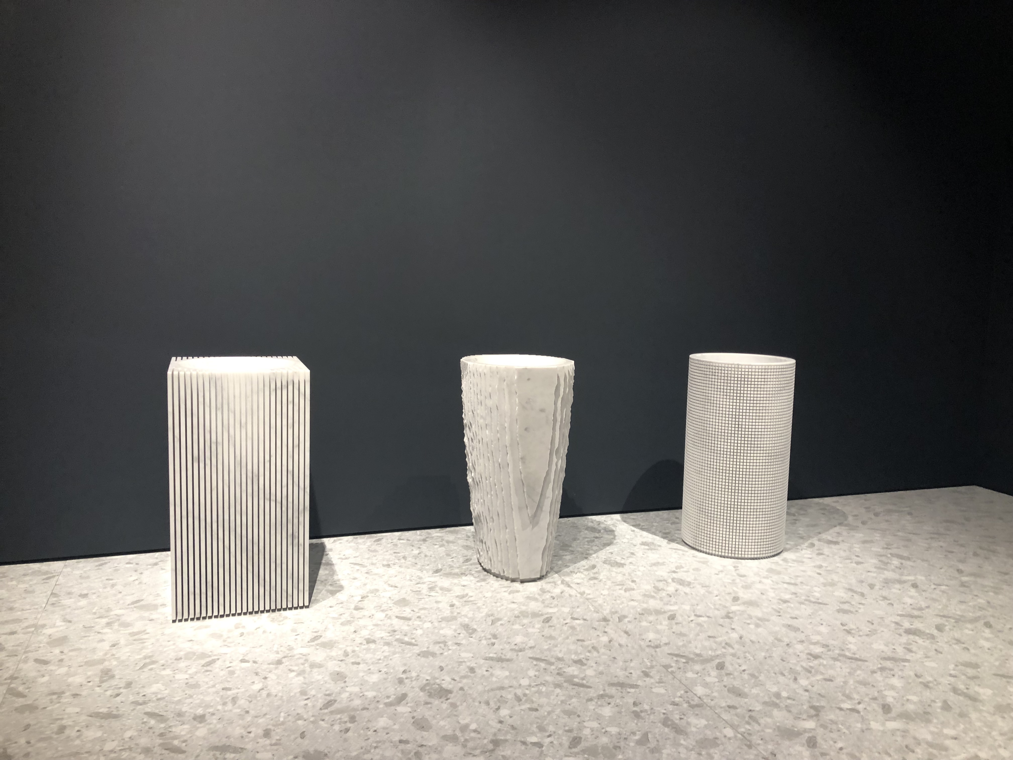 Sinks display by antonionlupi design at Salon Del Mobile, Milan Design Week 2019