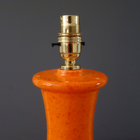 Vintage orange ceramic table lamp