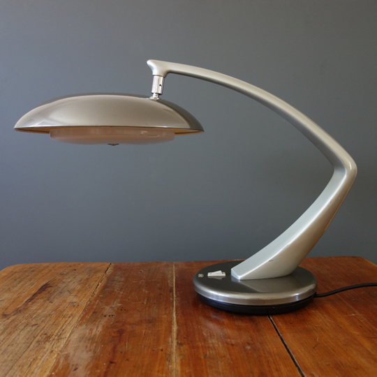 """Boomerang 64"" desk lamp by Fase"