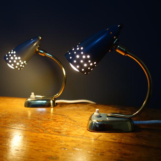 Retro bedside lamps