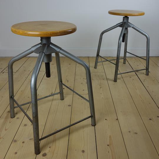 Industrial swivel stools