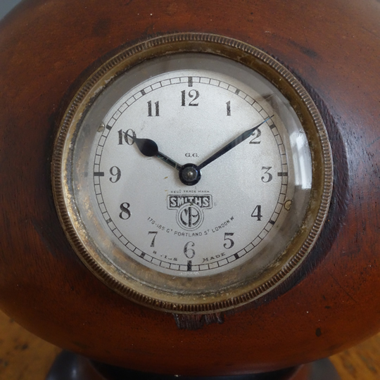 Vintage hat block with clock