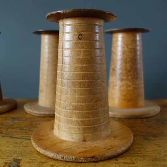 French vintage bobbins