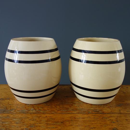 Art Deco ceramic pots by Boch et frères
