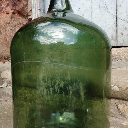 Vintage handblown glass demijohn -C-