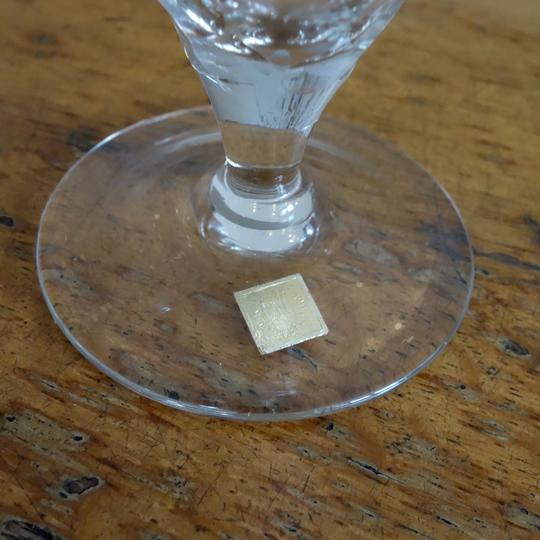 """""""Yvette"""" crystal glasses by V.D"""