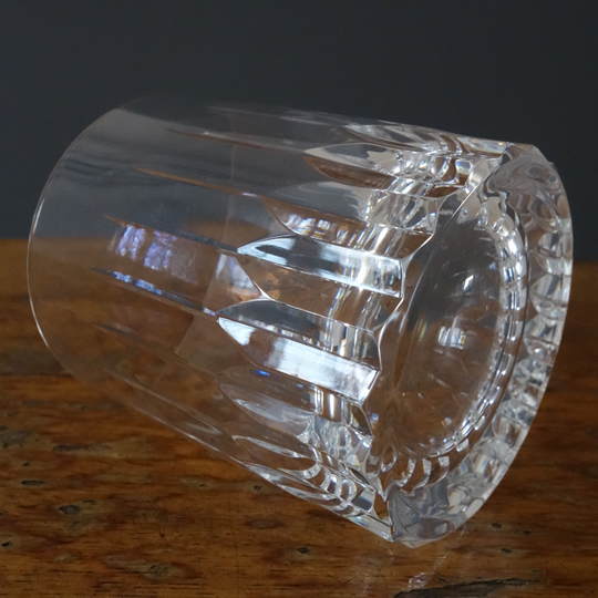 Old fashioned cut crystal whiskey glasses