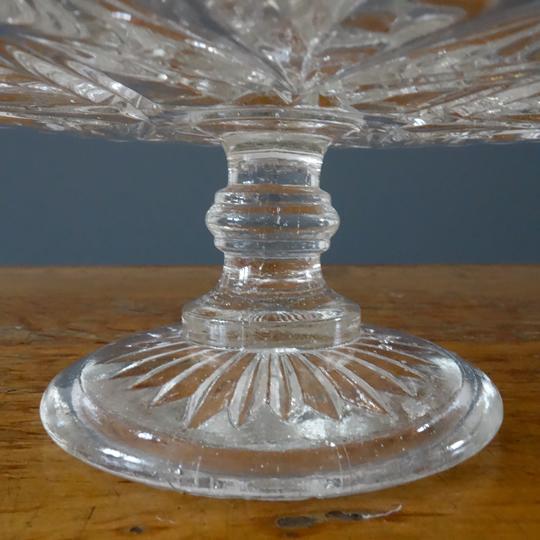 Vintage glass cake stand -B-