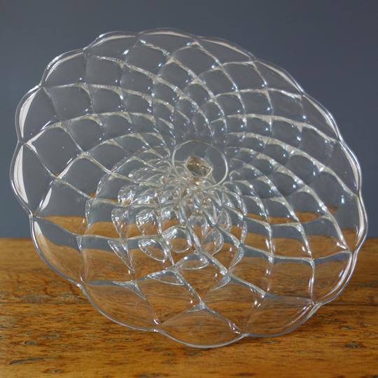Vintage glass cake stand -C-