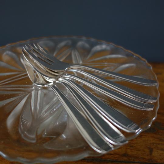 Art Deco cake forks -A-