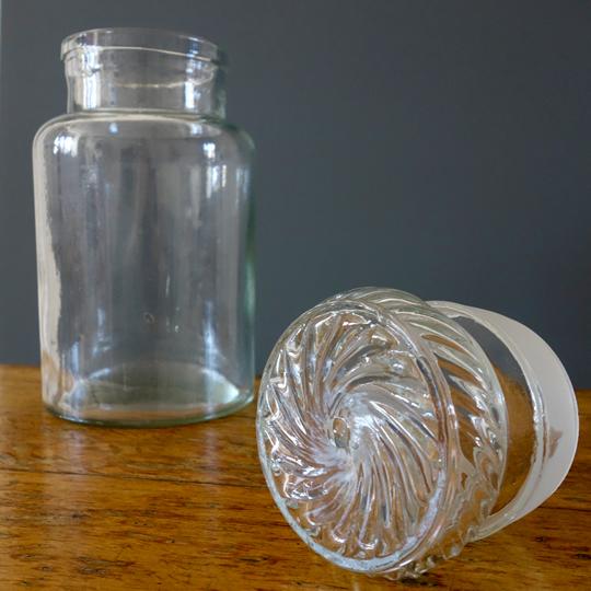 Vintage glass sweets/ cookie jar