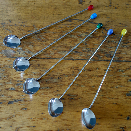 Retro cocktail spoons