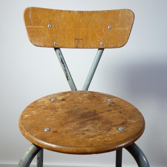 Vintage metal stool chairs