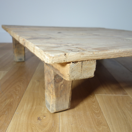 Industrial wooden pallet tables
