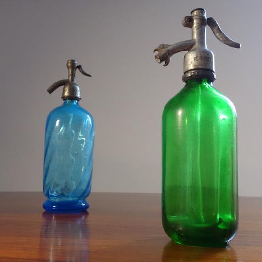 Antique Seltzer Soda Siphon Bottle -A-