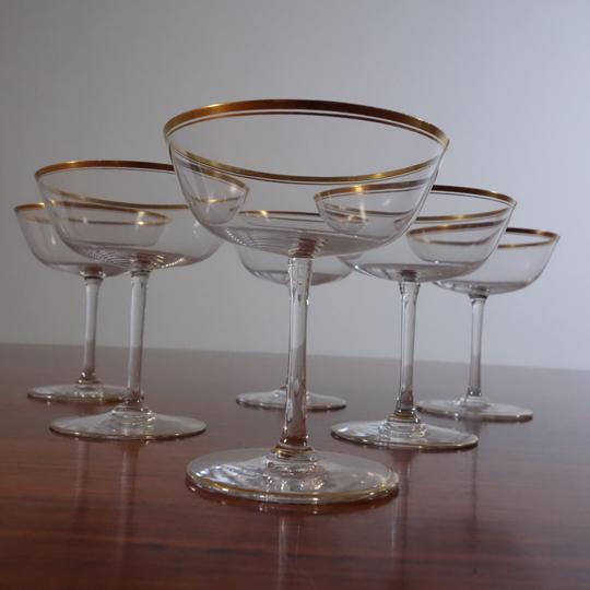 """""""Eva Gold"""" crystal glasses by V.S.L"""