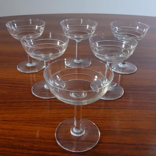 Stripped crystal glasses (V.S.L)
