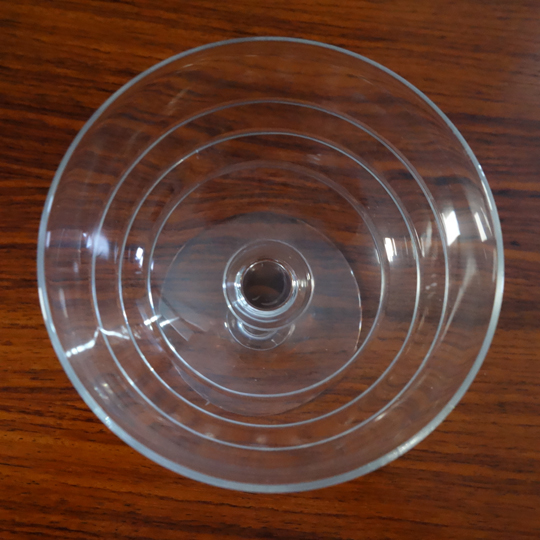 Stripped champagne crystal glasses (V.S.L)
