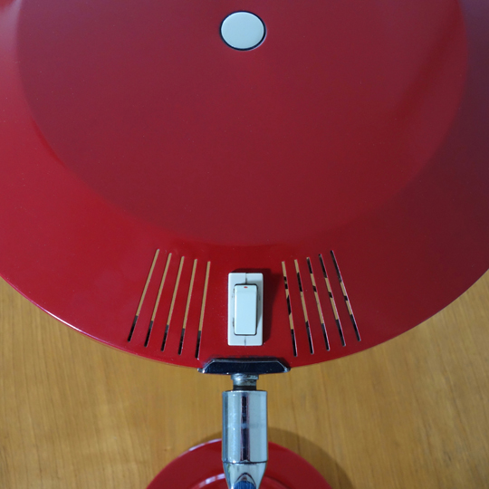 Red President Desk Lamp by Fase
