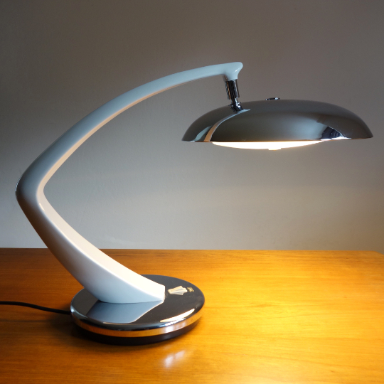 """Boomerang 64""Desk Lamp By Fase."