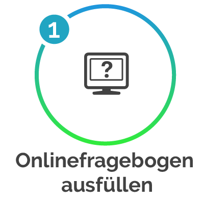 Icon Onlinefragebogen ausfüllen