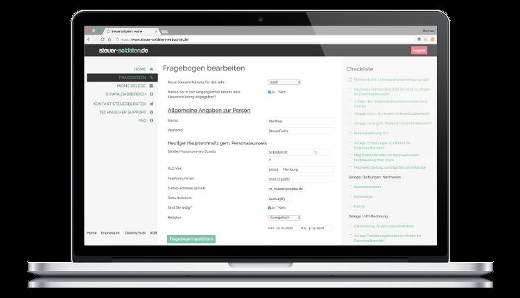 Webportal von steuer-soldaten.de