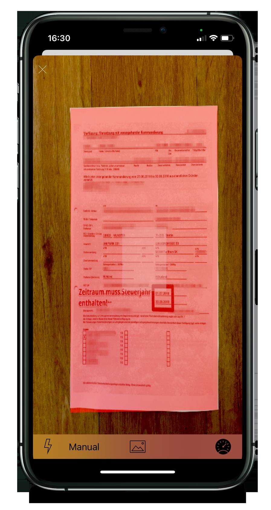 Steuer-ScanApp Scanner automatisch  (iOS)