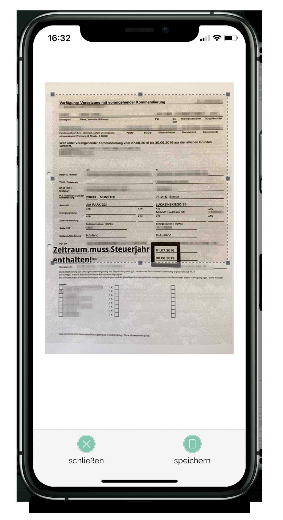 Steuer-ScanApp Zuschnitt (iOS)