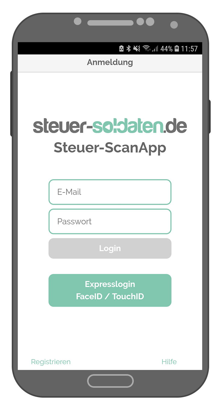 Steuer-ScanApp Anmeldung (android)