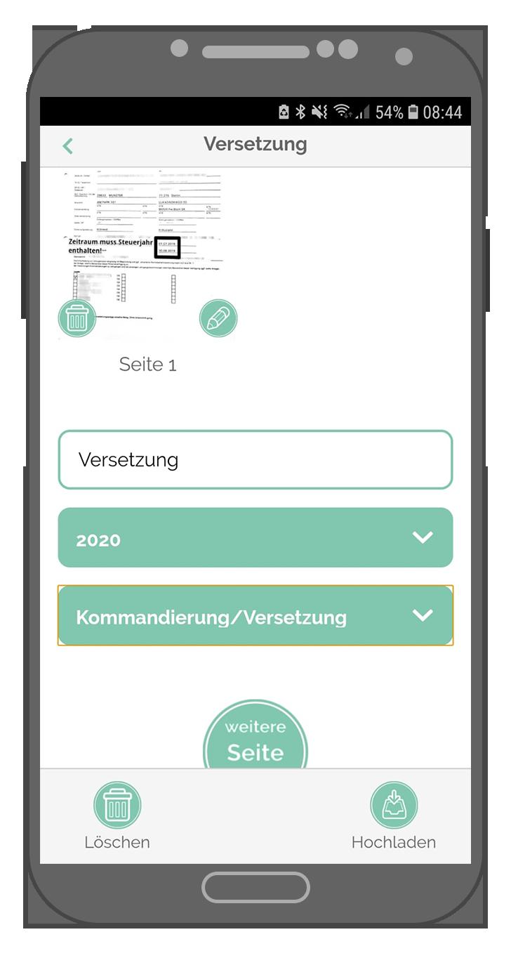 Steuer-ScanApp Vorschauansicht (android)