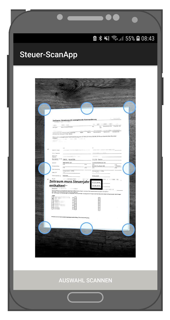Steuer-ScanApp Zuschnitt (android)