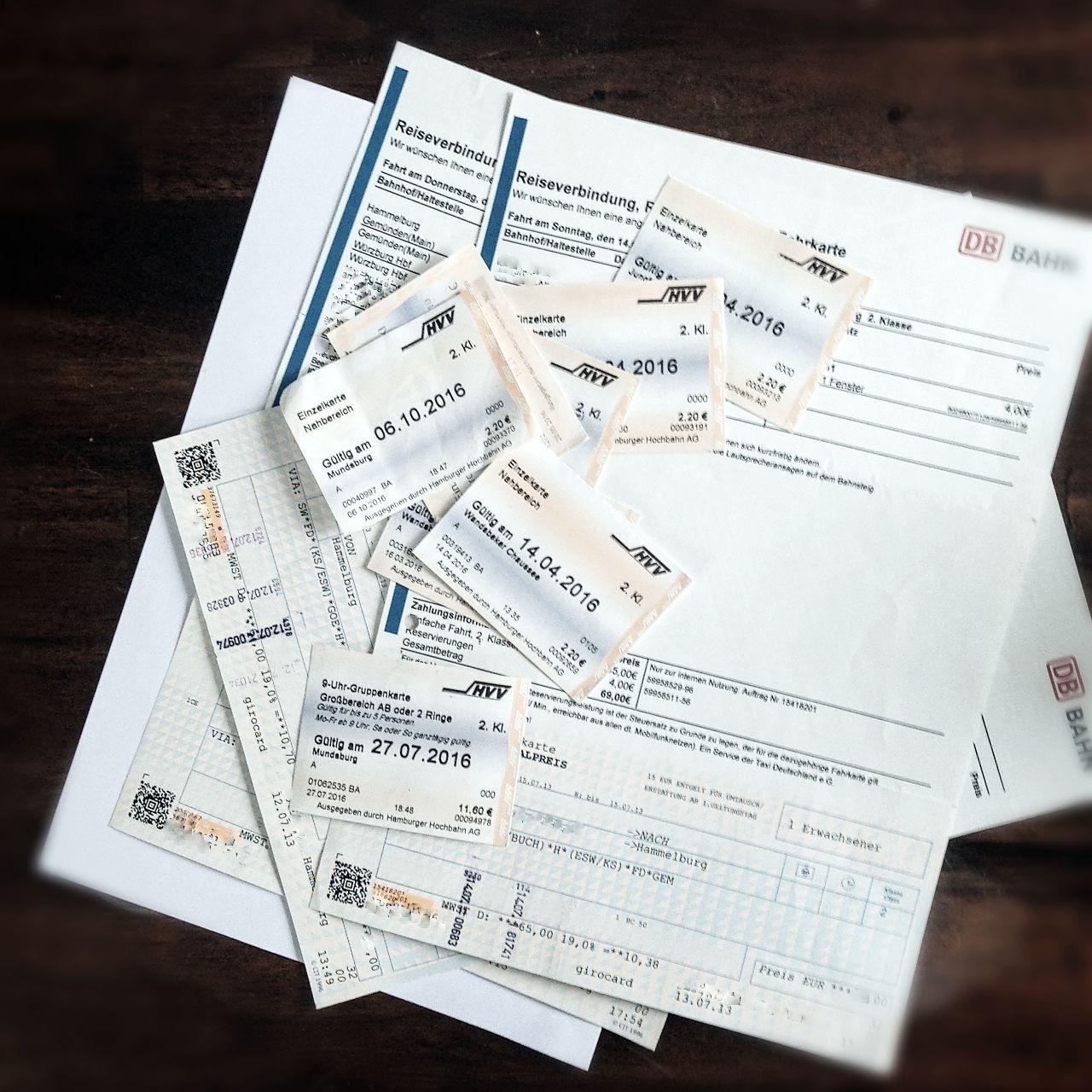 Belege für Fahrtkosten bei Soldaten (Steuererklärung)