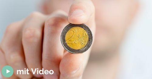 Euro Münze in der Hand