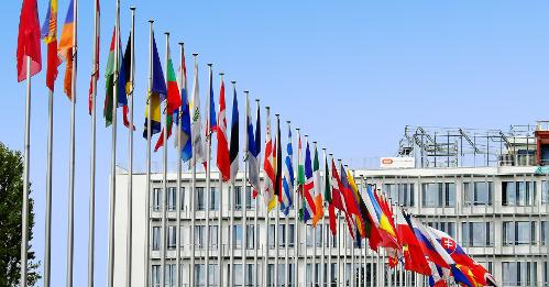 Flaggen EU Brüssel