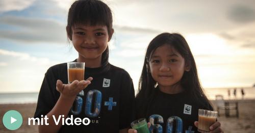 Kinder WWF Spendenunterstützung