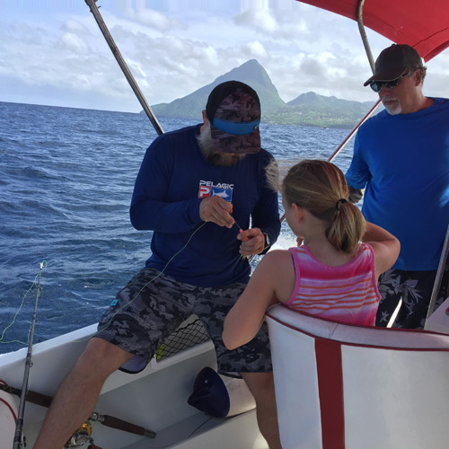 Fishing on beautiful St Lucia island
